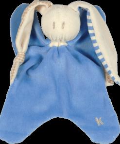 jucarie textila albastra moale bumbac organic