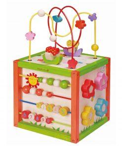 jucarie din lemn cub de activitati copii